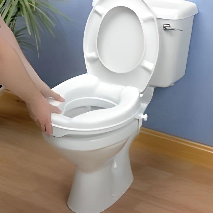 Rehausseur de toilette Savanah suréléve les wc, existe en 3 hauteurs: 5, 10, ou 15 cm