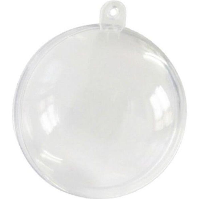 Boîte transparente élégante en forme de boule de 8 cm (x10) R/2969