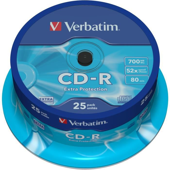 Lot de 25 CD-R VERBATIM Extra Protection !