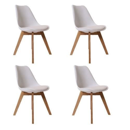 Lot de 4 chaises scandinaves chaises design salle manger for Chaises salle a manger blanches design
