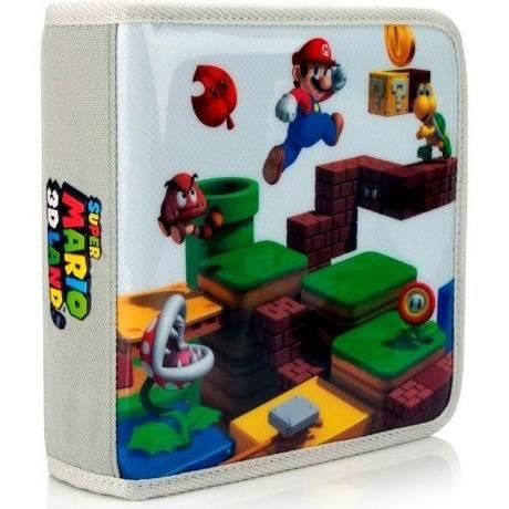 Pochette de transport super mario 3d land 3ds achat for Housse 2ds mario