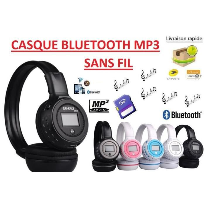 casque bluetooth sans fil lecteur mp3 int gr achat kit pi ton pas cher avis et meilleur. Black Bedroom Furniture Sets. Home Design Ideas
