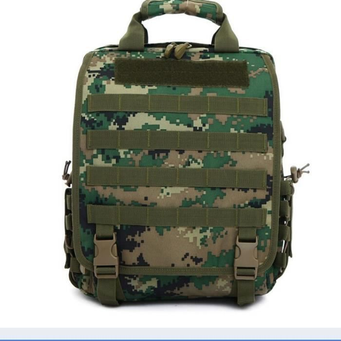 Demeuble-6058 Sac tactique de camouflage Silt Packet unisexe Sports de plein air Sacs à main Sacs à bandoulière Zipper Sacs à dos