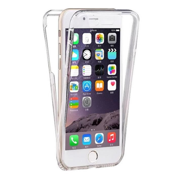 coque iphone 4s silicone integrale en gel 360 tran