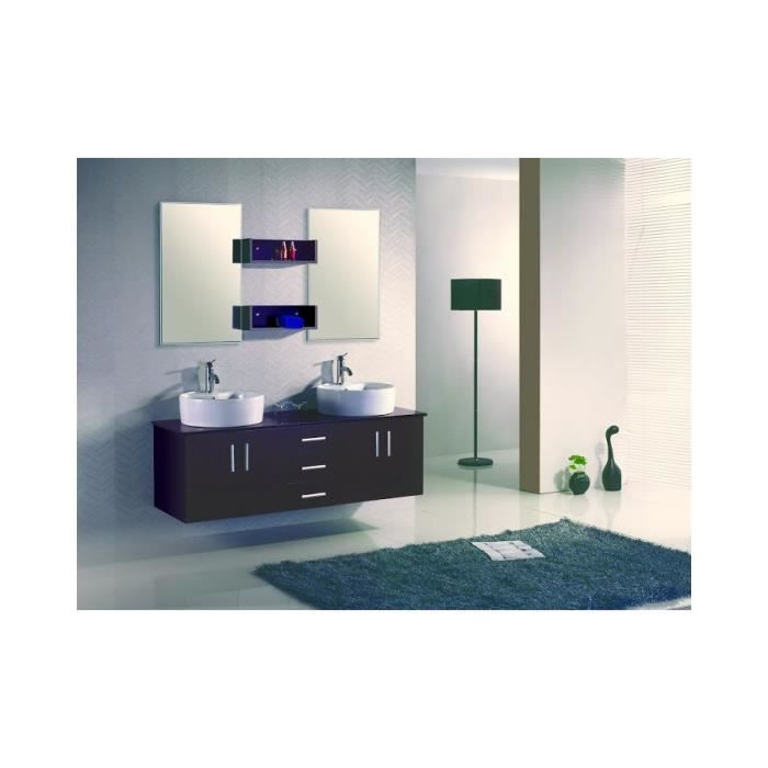 ensemble meuble salle de bain complet 39 ares w 39 2 vasque 2miroir achat vente salle de bain. Black Bedroom Furniture Sets. Home Design Ideas