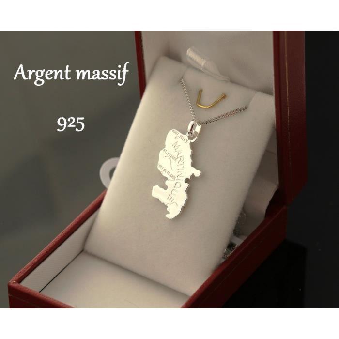 Boucles d/'oreilles Pendante grande Carte de SICILE en ARGENT MASSIF NEUF
