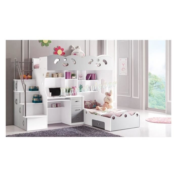 lit enfant multifonction stella achat vente lit. Black Bedroom Furniture Sets. Home Design Ideas