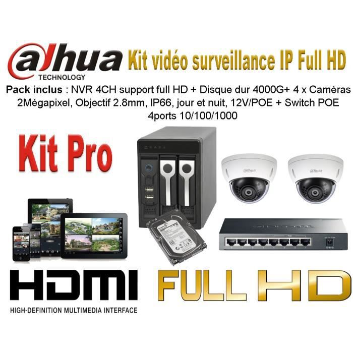 kit video surveillance 2 cameras achat vente cam ra ip cdiscount. Black Bedroom Furniture Sets. Home Design Ideas