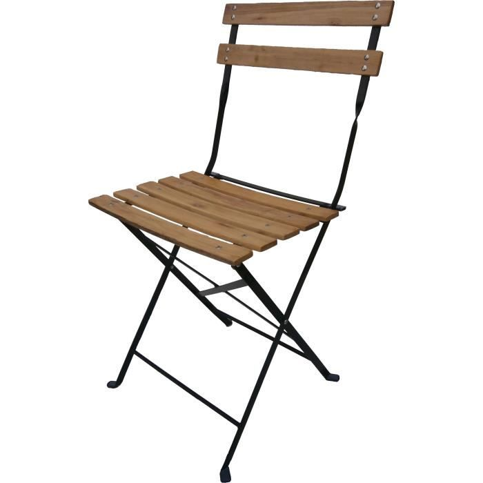 4 chaises pliantes Bistro bois - Achat / Vente fauteuil ...