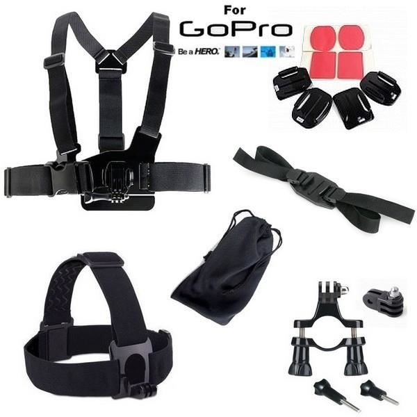 pack accessoire fixation pour gopro 1 2 3 3 achat vente pack accessoires photo. Black Bedroom Furniture Sets. Home Design Ideas