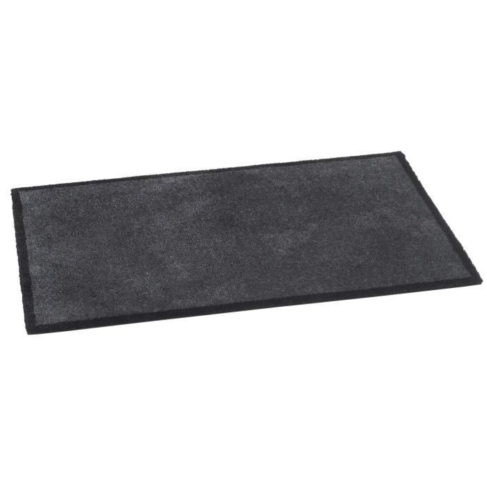 bsm 2000 tapis dentre 75 x 50 cm anthrazit paillasson intrieur antidrapant absorbant lavable en machine