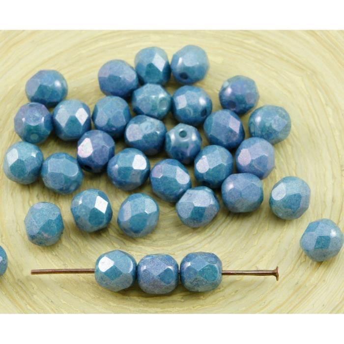 plusieurs couleurs disponibles 6mm 50 x perles rondes en verre dépoli