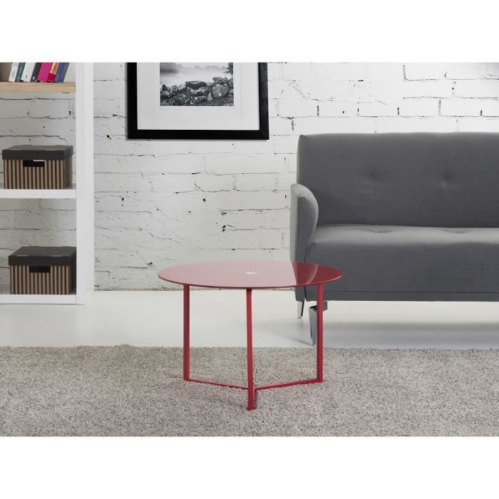 Table basse design table d 39 appoint 60x40 cm rouge for Meuble 60x40