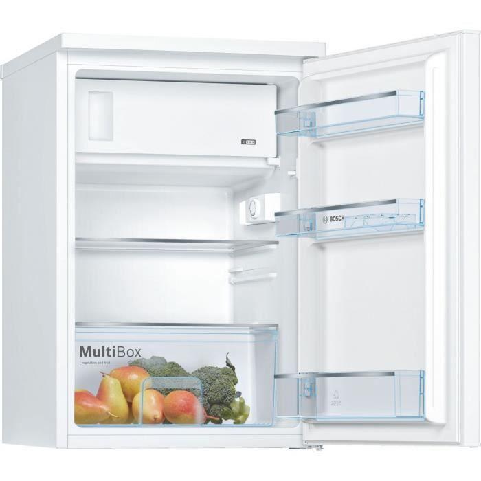 BOSCH réfrigérateur frigo simple porte table top blanc 120L A++ Froid  statique MultiBox