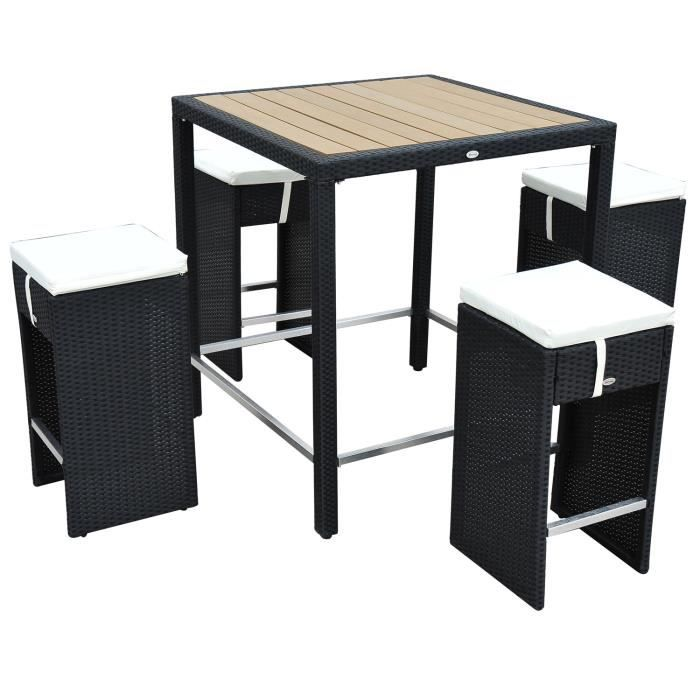 table de bar haute jardin. Black Bedroom Furniture Sets. Home Design Ideas