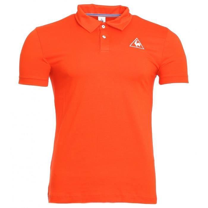 Polo Orange Homme Le Coq Sportif Orange -