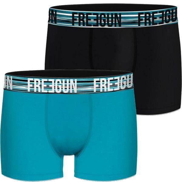 FREEGUN Lot de 2 Boxers Homme Microfibre NEW Noir