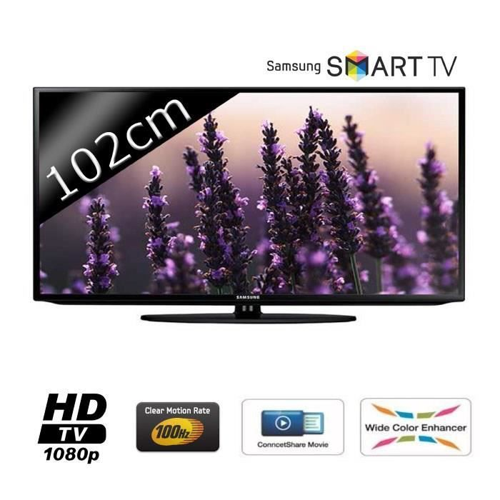 samsung ue40h5203 smart tv led full hd 102cm 40 t l viseur led avis et prix pas cher. Black Bedroom Furniture Sets. Home Design Ideas