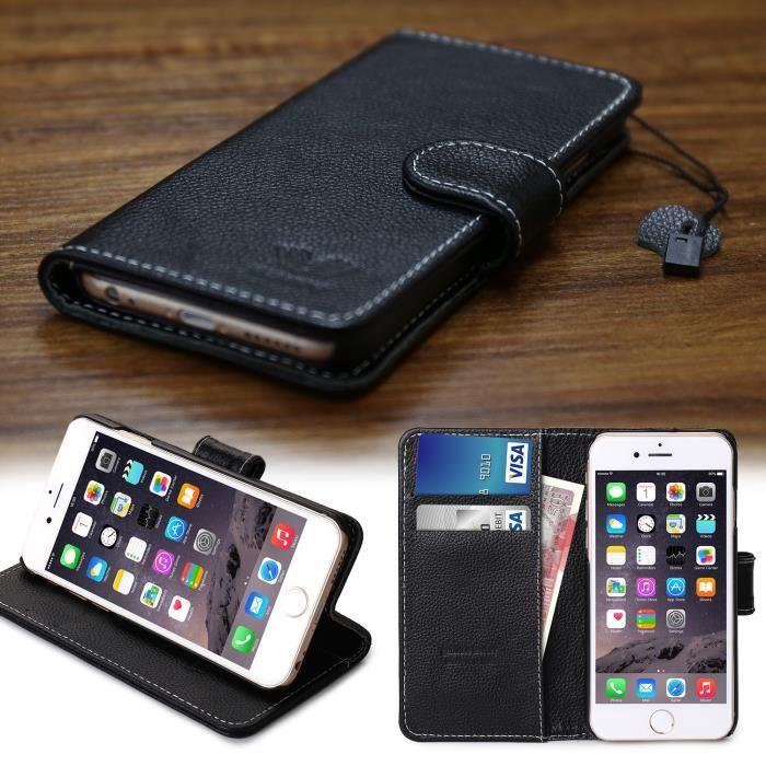 savfy housse etui portefeuille pour iphone 6 6s 4