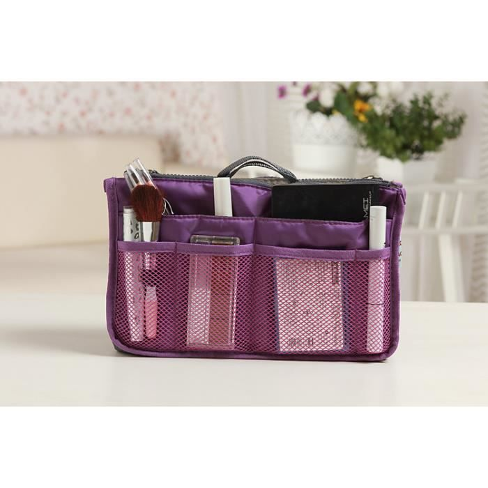 organisateur de sac rangement main organiseur pochette carte voyage maquillage violet comme. Black Bedroom Furniture Sets. Home Design Ideas