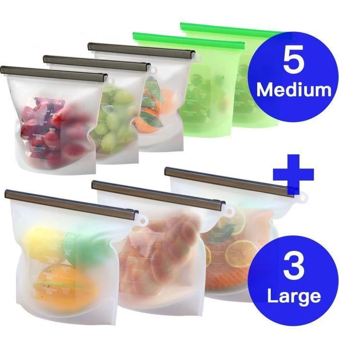Clear Cellophane Cadeau Nourriture Sacs bloc bas 100 mm x 190 mm sans carton