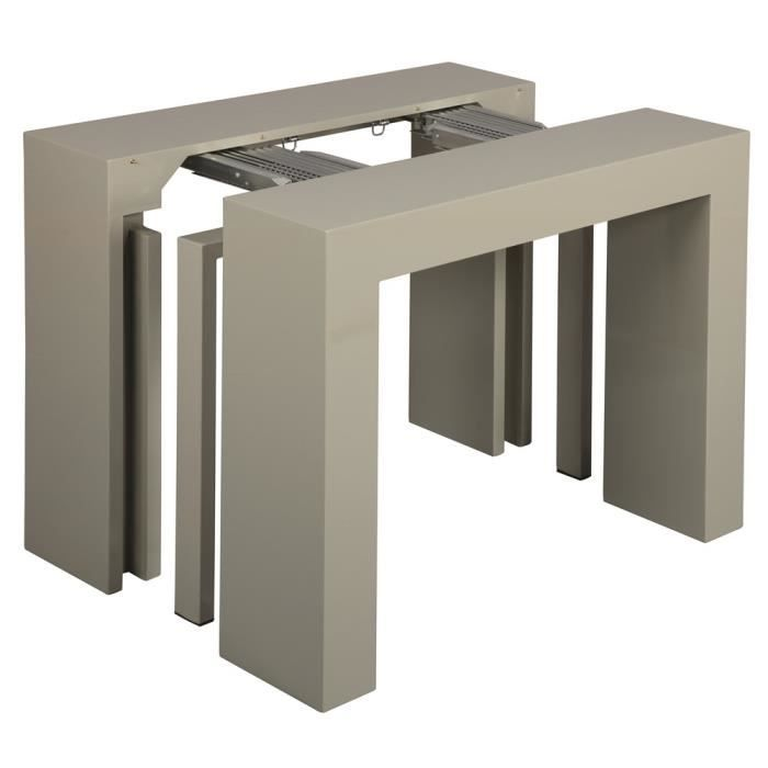 Pin table console en verre indo roche bobois on pinterest for Table extensible roche bobois