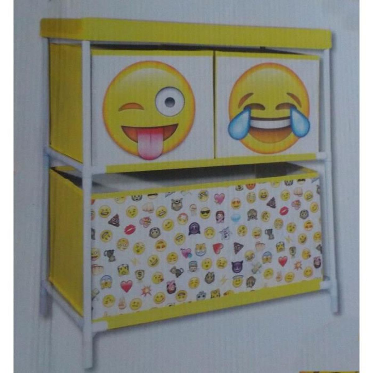 commode meuble de rangement pour jouet ou vetement decoration smiley emoticones jeu enfant. Black Bedroom Furniture Sets. Home Design Ideas