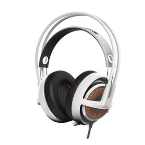 CASQUE  - MICROPHONE STEELSERIES Casque Gaming Siberia 350 Blanc - Micr