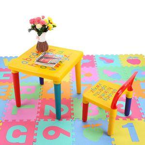 TABLE ET CHAISE Table et Chaise pour Enfant en Plastique DIY ABC A