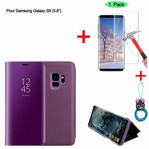 HOUSSE - ÉTUI Violet Etui Housse Samsung Galaxy S9 Clear View Et