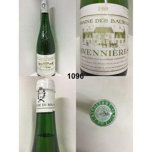 VIN BLANC Savennières - Domaine des Beaumard 1989 - Casier :