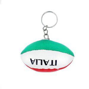 PORTE-CLÉS Porte cles ballon rugby drapeau italie italien