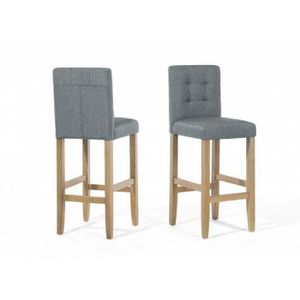 bar MadisonAchat en gris polyester tissu Chaise de 8knP0wO