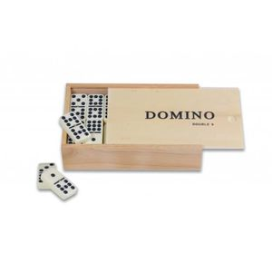 DOMINOS Jeu de domino  double 9 en bois
