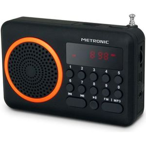 RADIO CD CASSETTE MET 477204 Radio portable FM Orange