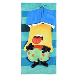 serviette de plage enfant les minions ray vert 70 achat. Black Bedroom Furniture Sets. Home Design Ideas