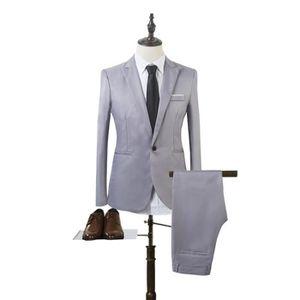 Homme Mariage Gris Argent Diamant Robe Suit Gilet 34 36 38 40 42