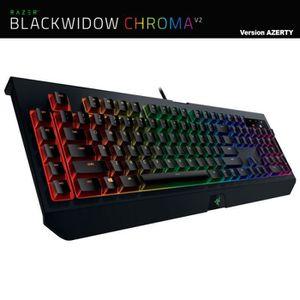 CLAVIER D'ORDINATEUR Clavier PC Gamer Mécanique Razer BlackWidow Chroma