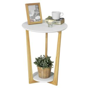 TABLE D'APPOINT SoBuy® FBT52-WN Table Basse Ronde Guéridon Table d