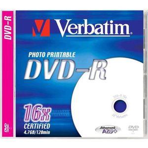 CD - DVD VIERGE Verbatim - DVD-R - 4.7 Go 16x - surface imprimable