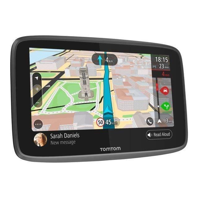 TOMTOM GO 6200 Cartographie Monde Trafic Zones de Danger à vie et Appel Mains-Libres (1PL6.002.04) Noir