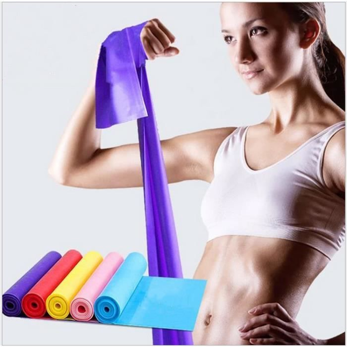 5 pcs Bandes de résistance d'entraînement TPE pour l'exercice de sport Bande de gymnastique élastique Équipement de fitness