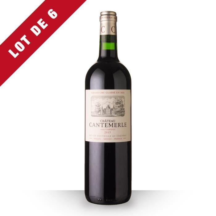 Lot de 6 - Château Cantemerle 2015 AOC Haut-Médoc - 6x75cl - Vin Rouge