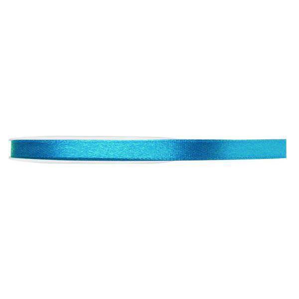 RUBAN SATIN DOUBLE FACE 15MM - BLEU Bleu, turquoise, ciel