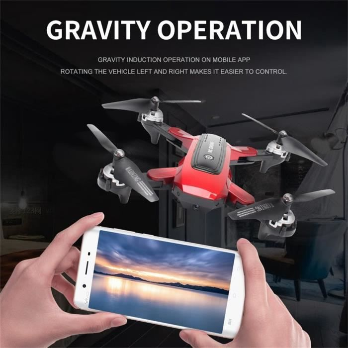 UAV pliable quadruple hélicoptère GPS 5G WIFI FPV 4K grand angle caméra HD