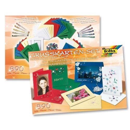 FOLIA Set de Cartes de Salutations 890 Pièces