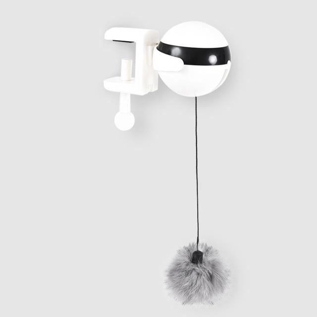 Jouet chat à mouvement électronique Yo-Yo - Boule de levage, jouet électrique rotatif, Puzzle interactif, ani - Type: White -AX10327