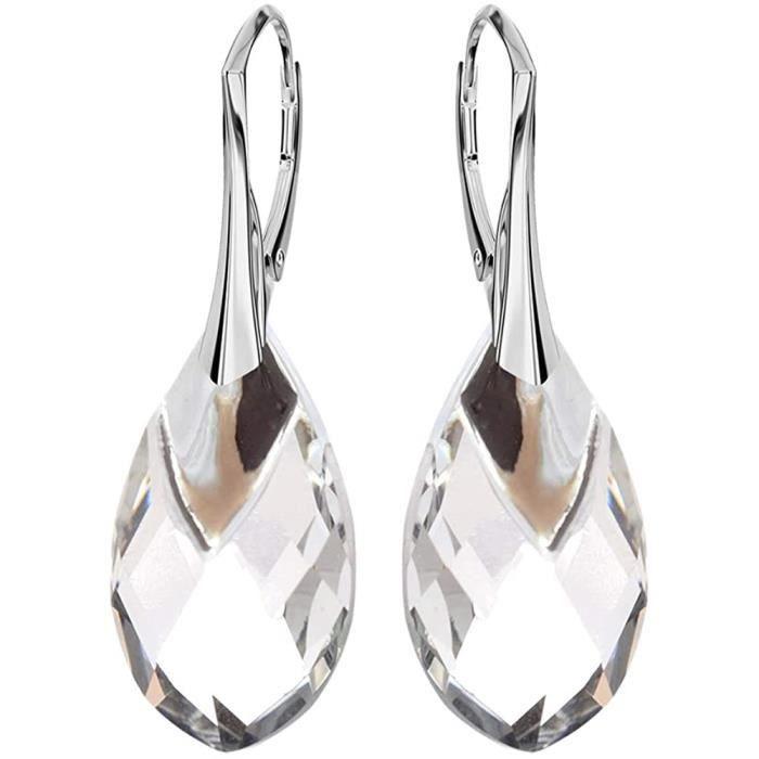 BOUCLE D OREILLE Beforya Paris* Boucles d'oreilles clous en argent 925 avec cristaux Swarovski Elements – Magnifiques boucles d'487