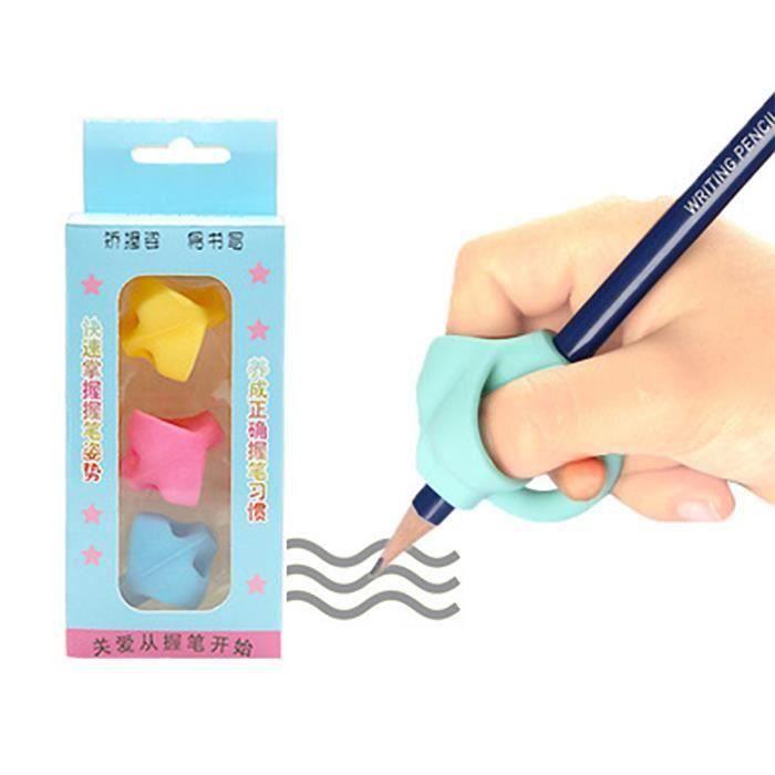 Grip pour Crayon Pencil Grip Aide Ergonomique à l'écriture des Enfants Guide Doigt Outil Aide Posture d'écriture Correcte (3pcs) -
