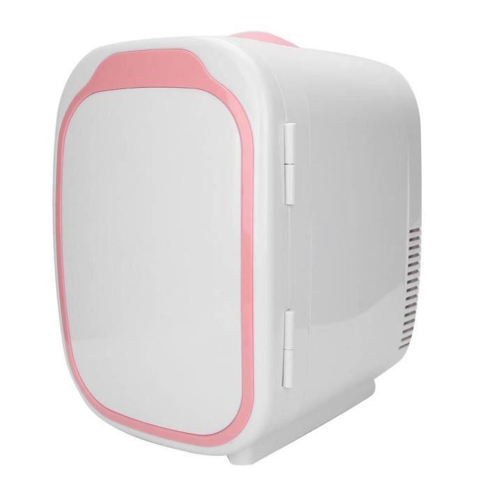HURRISE Réfrigérateur de voiture Mini Frigo de Maquillage 6L Réfrigérateur Cosmétique de Voiture Ménage Refroidisseur